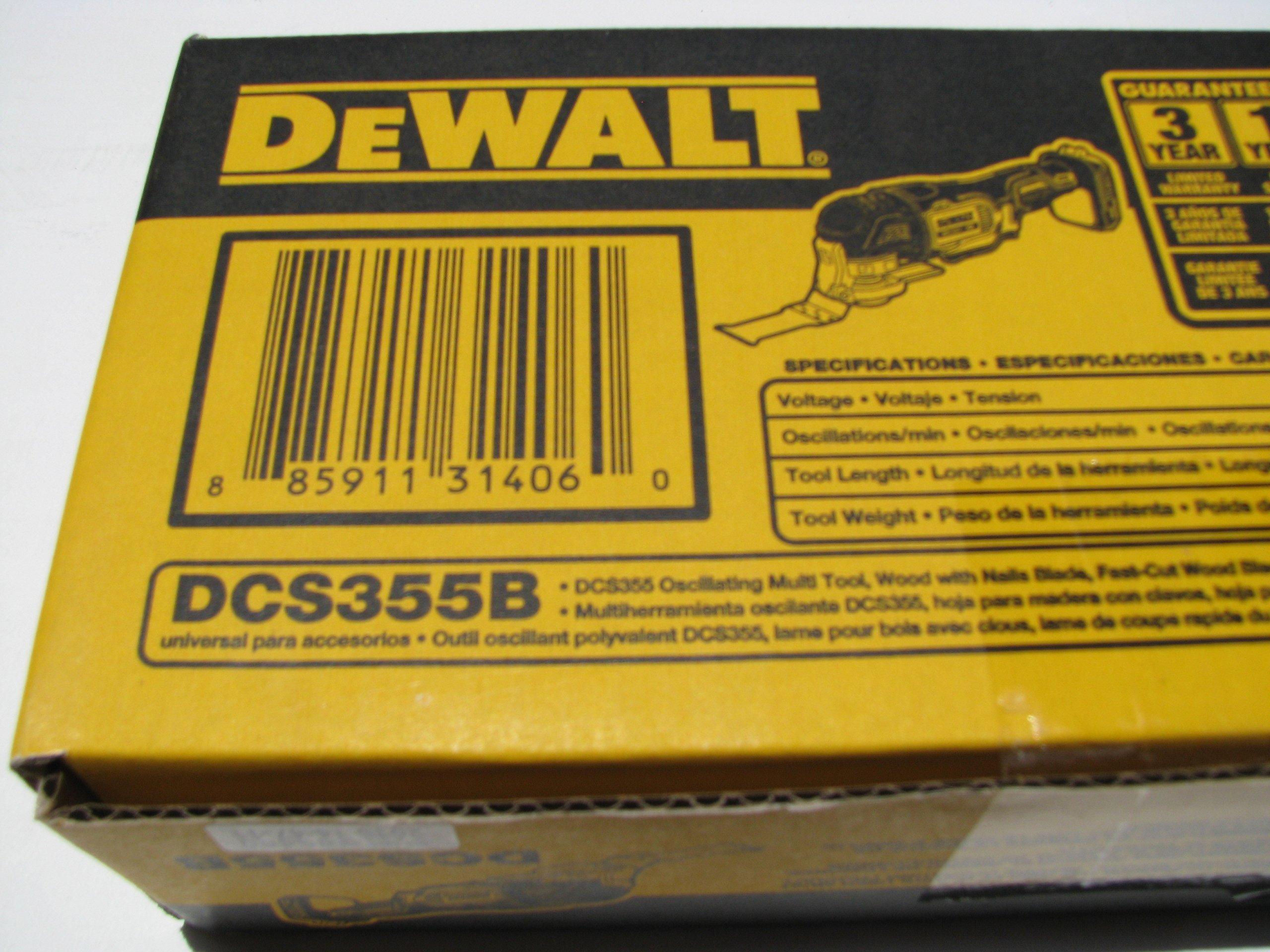 DEWALT DCS355B 20V XR Oscillating Multi-Tool by DEWALT (Image #1)