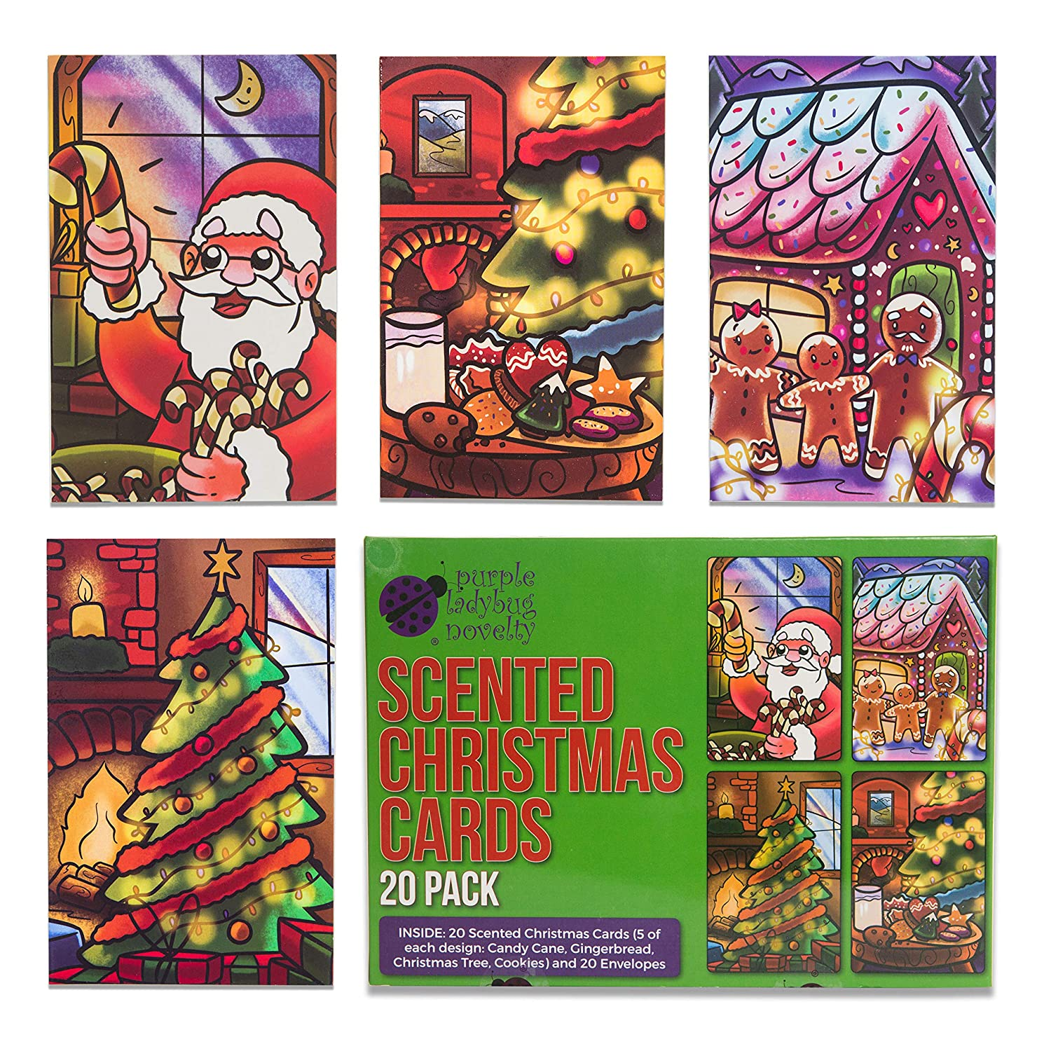 Amazon.com : Scented Christmas Cards Value Pack - Scratch and Sniff ...