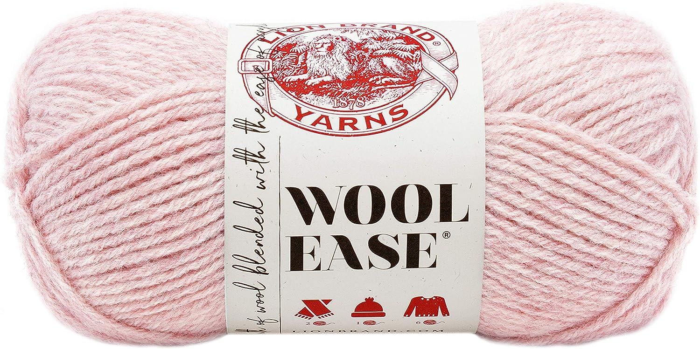 Lion Brand Yarn 620-104 Wool-Ease Yarn, One Size, Blush Heather