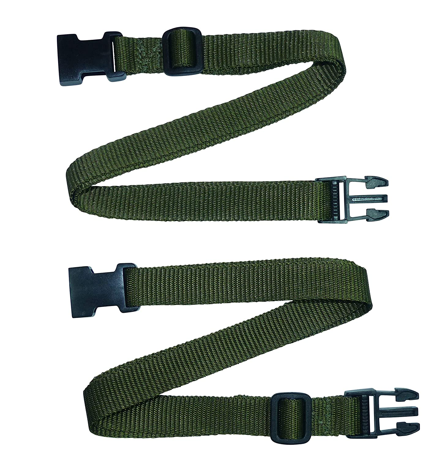 9 10 Length Adjuster Webbing Strap Black, 3 metres Pack of Two Quick Release Buckle