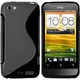 mumbi TPU Silikon Schutzhülle für HTC One V schwarz