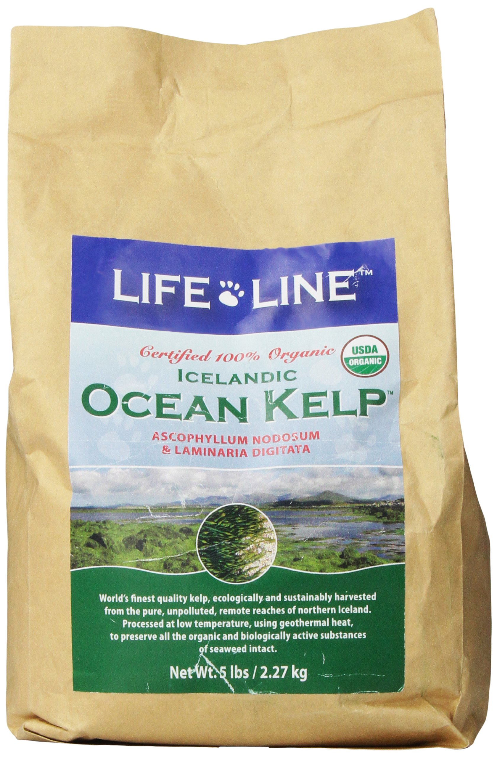 Life Line Organic Ocean Kelp Dog and Cat Supplement, 5-Pound