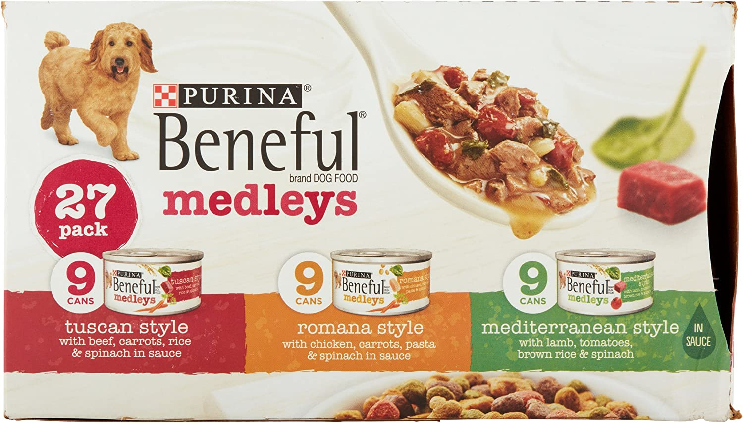 Purina beneful Medleys Variety Pack perro alimentos 27 – 90 ml ...