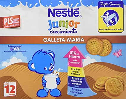 Nestlé Junior Alimento Lácteo Infantil con Galleta, Listo para Beber - Paquete de 3 x