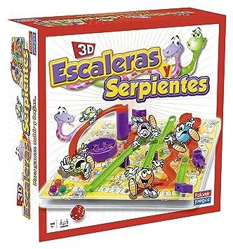 Falomir Juego Escaleras Y Serpientes 3d 32 22001 Amazon Es