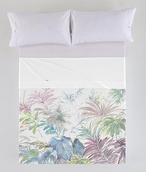 ESTELA - Juego de sábanas Tropical - Impresión Digital - Cama de 150-2 cm (4 Piezas) - 100% Algodón - 144 Hilos: Amazon.es: Hogar