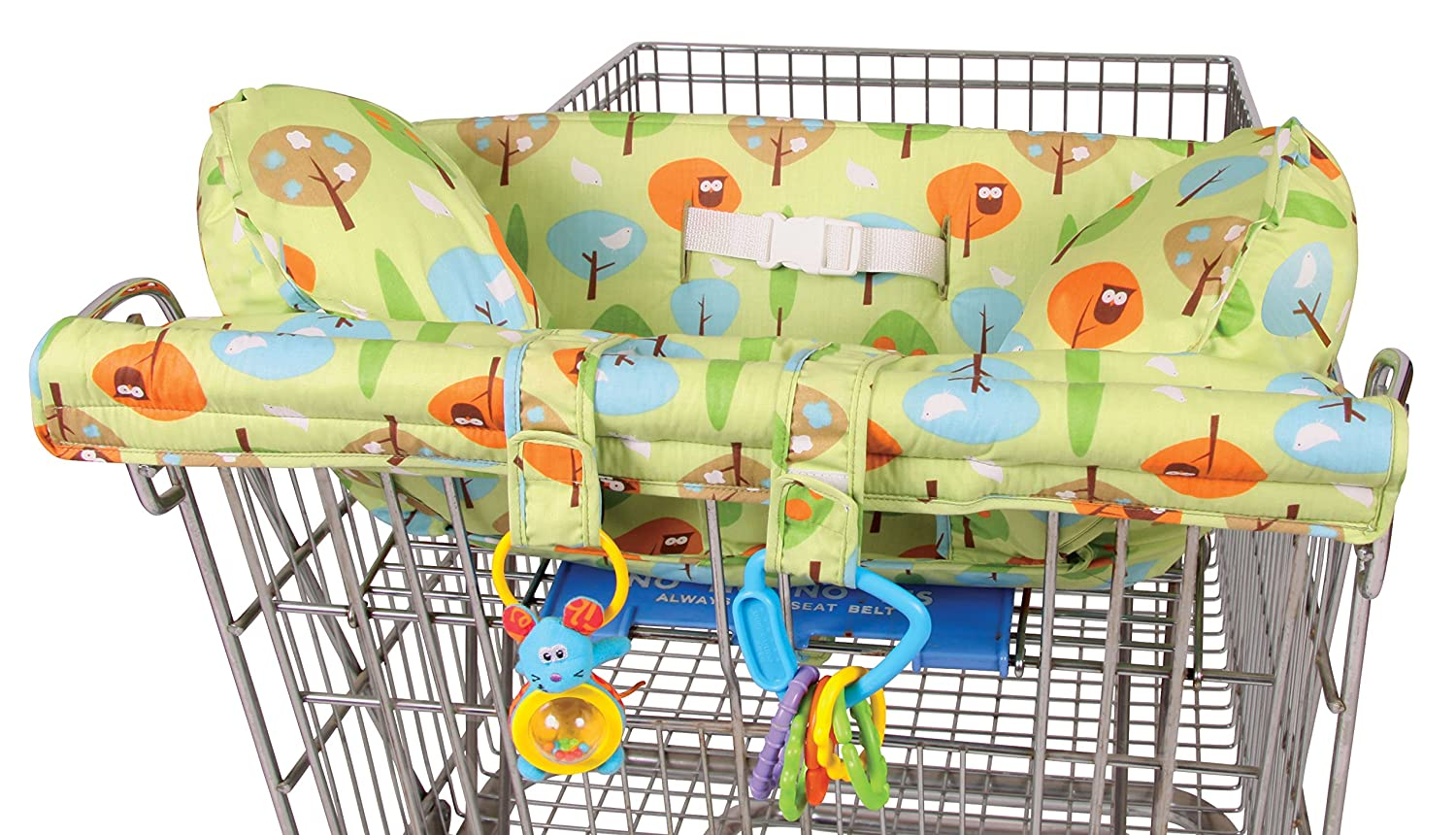 Leachco Prop 'R Shopper Body Fit Shopping Cart Cover, Pink Forest Frolics 13940