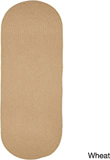 product image for Rhody Rug Woolux Wool Runner Braided Rug (2' x 6') - 2' x 6' Runner Wheat