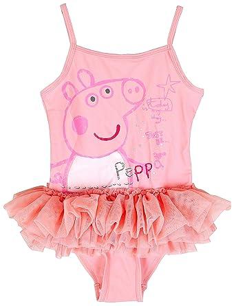 Girls Peppa Pig Tutu Frill Swimming Costume Bathing Suit 5 6 Years
