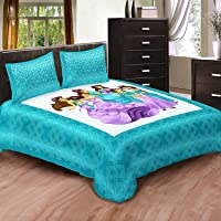 Jairaj Fashion 100% Cotton King Size Double Bedsheet with 2 Pillow Covers.(Sea Green) 90 By100