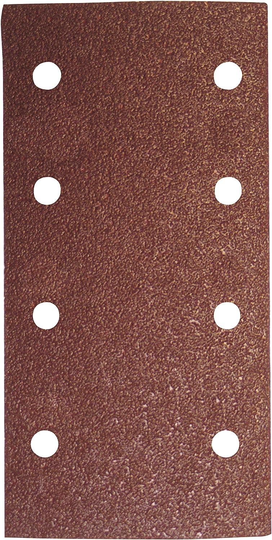 Leman 93185.08.01 Lot de 6 Patins abrasifs velcro en Corindon 2 x 4 trous 93 x 185 mm Grain 40