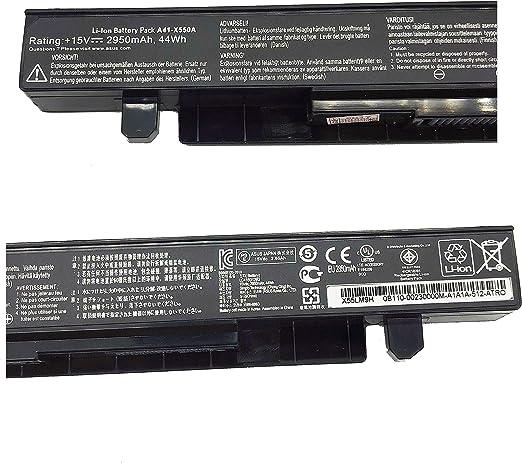portatil Batteria A41-X550A por Asus A450 A550 F450 F550 F550C F550L F552 F552C F552CL K550 K550C X450 X552 (2950 mAh 14.4V): Amazon.es: Electrónica