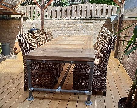 Tavolo Da Pranzo Stile Industriale.Cosywood Moderno Stile Industriale Legno Massello Tavolo Da Pranzo