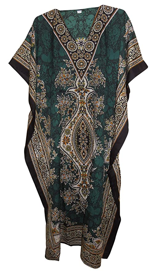 Cotton Kaftan Cover Up Beach Hippie Dress Boho Size 14 16 18 20 22 24 26  28