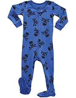 Leveret Kids Pajamas Baby Boys Girls Footed Pajamas Sleeper 100% Cotton  (Size 6- 61db74d03