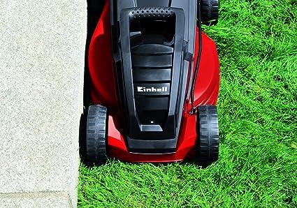 Einhell GE-EM 1233 - Cortacésped eléctrico (1250 W, altura de corte 5 niveles | 20-60 mm , ancho de corte 33 cm, hasta 300m² de jardín, 30L de ...