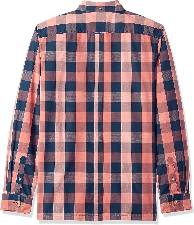 Ben Sherman Hombre MA18S49016 Manga Larga Camisa de Botones - Rosa - Large: Amazon.es: Ropa y accesorios