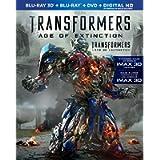 Transformers: Age of Extinction [Blu-ray 3D + Blu-ray + DVD + Digital HD]