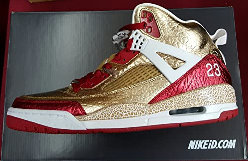 8bd70f8af956e1 Nike Air Jordan Rare Deadstock 4 5 6 Spizike (Metallic Gold Red ...
