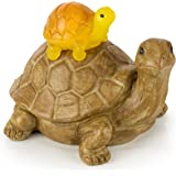 Mom and Baby Turtle Solar Powered LED Outdoor Decor Garden Light