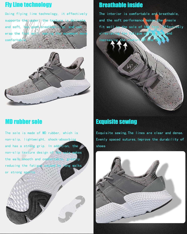 fe90f4e0225fb GNEDIAE Adulte Gym Fitness Sport Chaussures Chaussures d été Sneakers  Respirantes et Légères Confortable athlétique Baskets pour Homme Gris Noir  Vert  ...