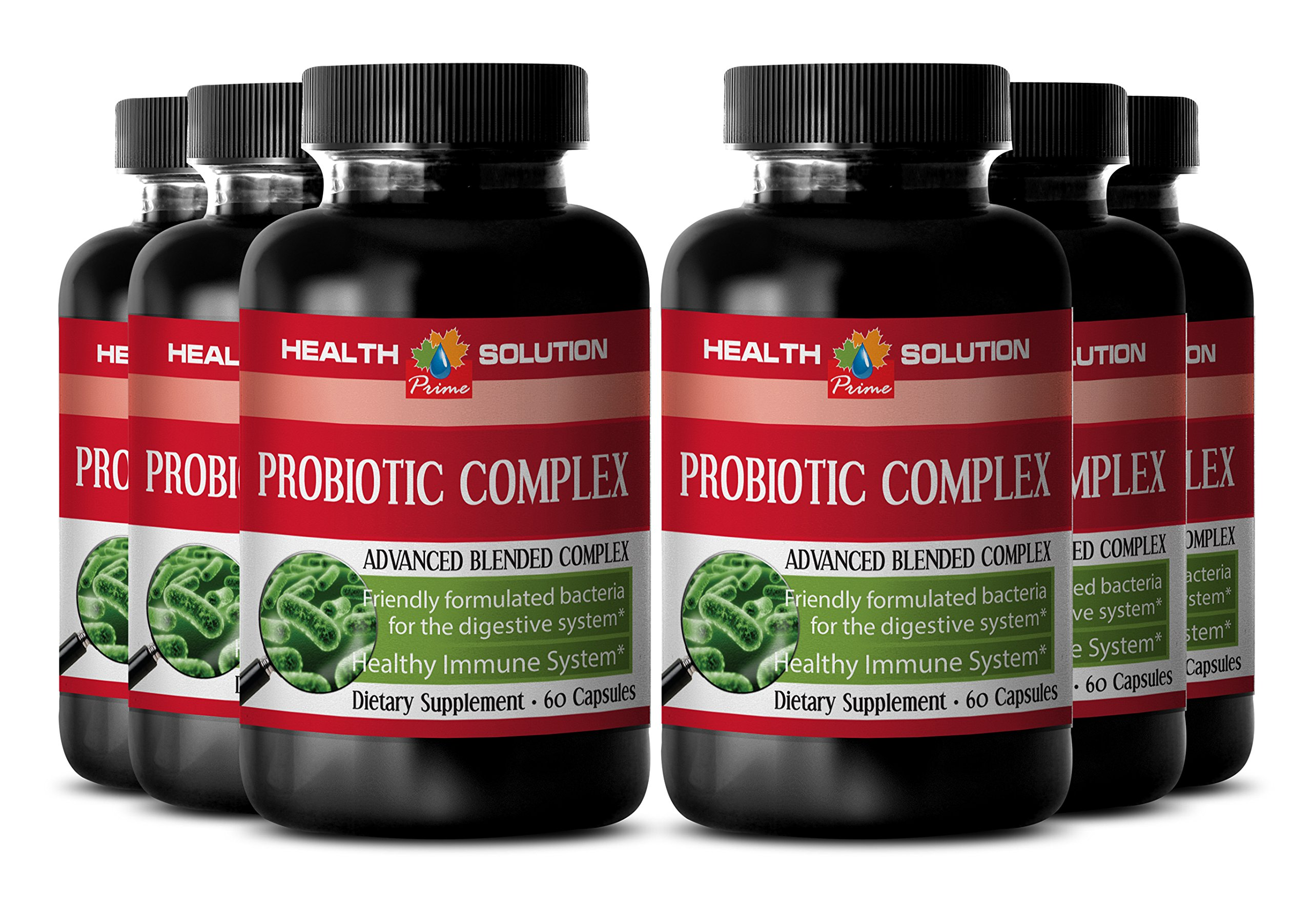 Probiotic immunity - PROBIOTIC COMPLEX 550MG - support digestion (6 Bottles) by Health Solution Prime