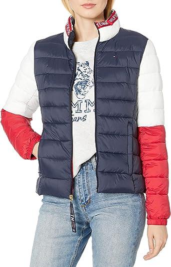 Tommy Hilfiger Women/'s Three-Pocket Striped Multi-Color Blazer