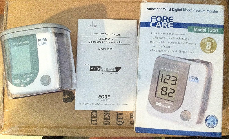 Amazon Wrist Digital Blood Pressure Monitor Forecare Brite