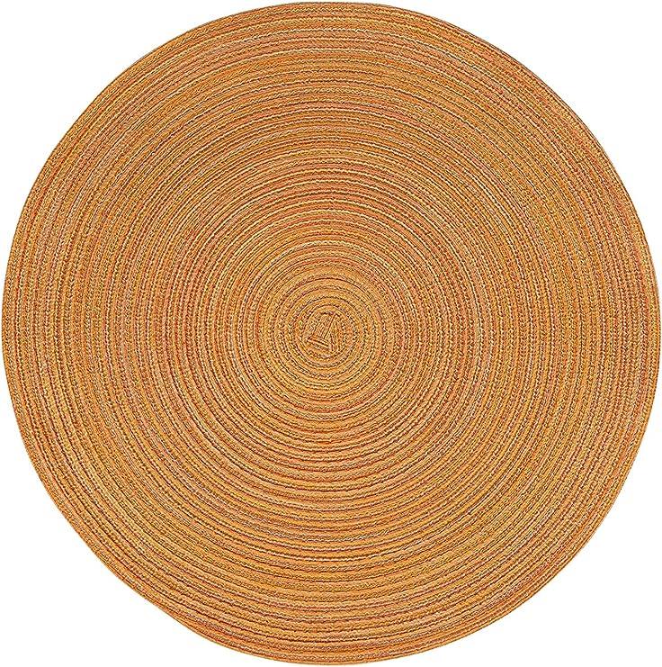 Tischsets Platzdeckchen Ø 38 cm rund Untersetzer Platzset 2er bis 12er Packs