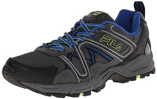 65d1c5058b Fila Men's Ascente 15 Trail Running Shoe, Black/Castle Rock/Prince Blue,