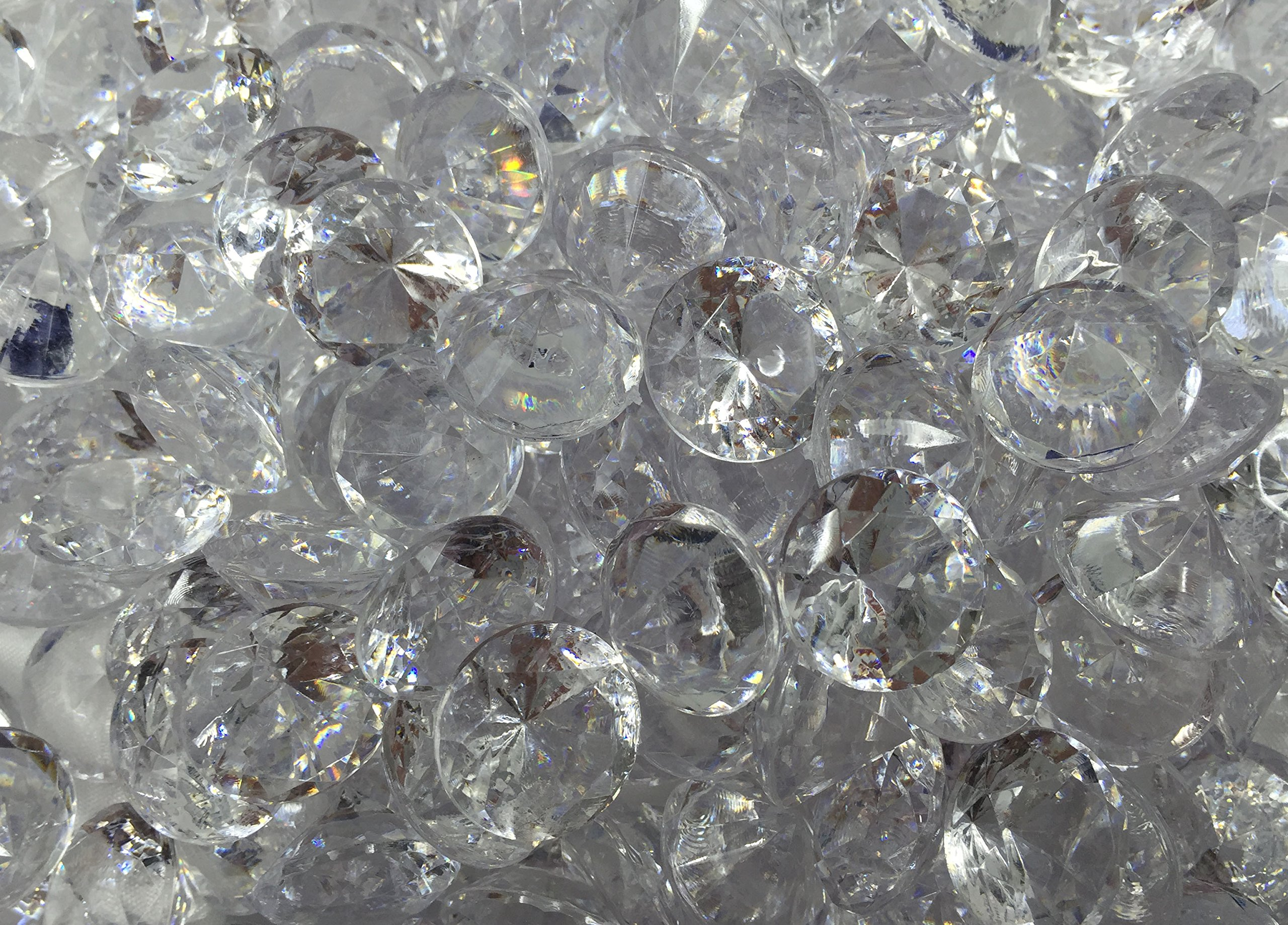 480+ Pieces 20mm Crystal Clear Acrylic Diamond Shape Jewels for Party Decoration ,Event ,Wedding , Vase Fillers, Arts & Crafts by SunRise (Image #5)