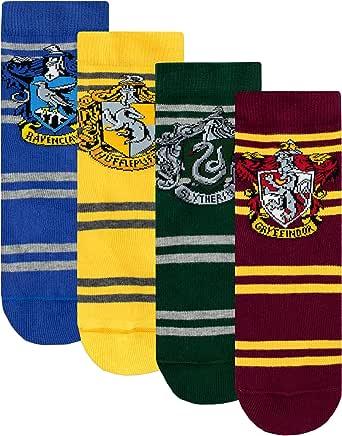 HARRY POTTER Calcetines Paquete de 4 para Niños Hogwarts