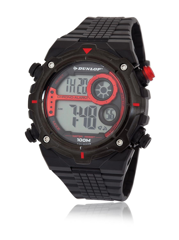 Dunlop DUN-228-G07 - Reloj Digital de Cuarzo para Hombre, Correa de plástico Color Negro (Alarma, Dual Time, luz, cronómetro): Amazon.es: Relojes