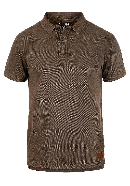 Blend Camper Camiseta Polo De Manga Corta para Hombre con Cuello De Polo De 100% algodón