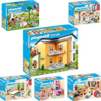 PLAYMOBIL® City Life 6er Set 9266 9267 9268 9270 9271 9272 Modernes ...