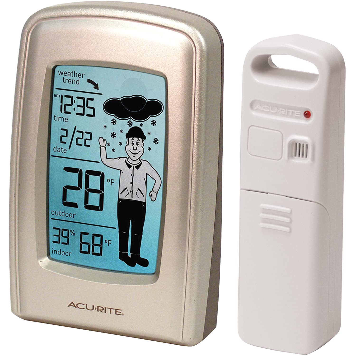 Amazoncom AcuRite 00827 WhattoWear Wireless Weather Forecaster