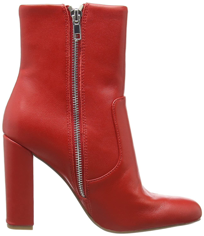 Steve Madden Damen Editor Ankle Boot Stiefeletten Rot (ROT (ROT (ROT Leder 607) ff1af8