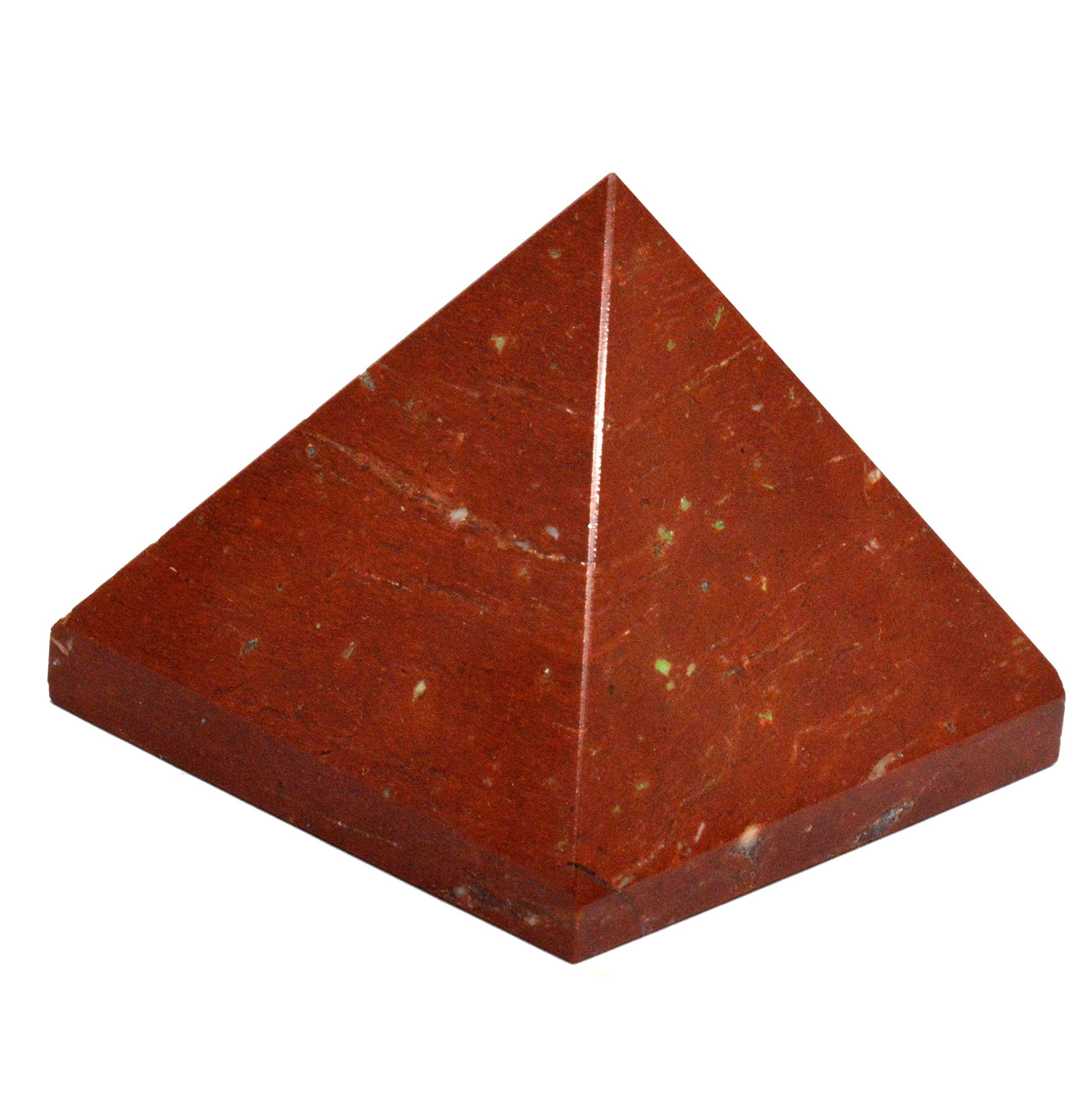 Healing Crystals India Natural Gemstone Red Aventurine 0.8'' Pyramid Feng Shui Spiritual Reiki Healing Energy Charged Pyramid