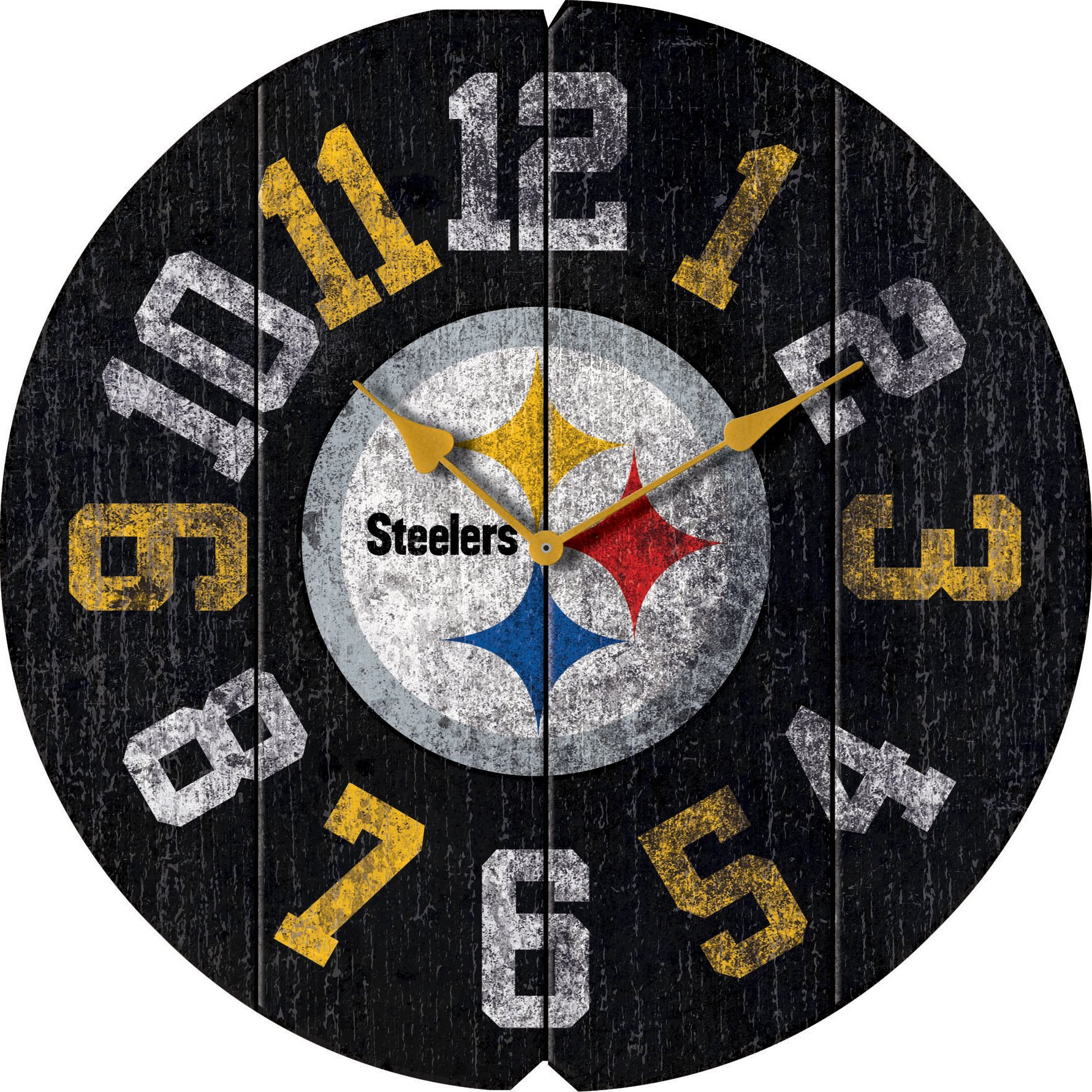 Imperial Officially Licensed NFL Merchandise: Vintage Round Clock, Pittsburgh Steelers by Imperial