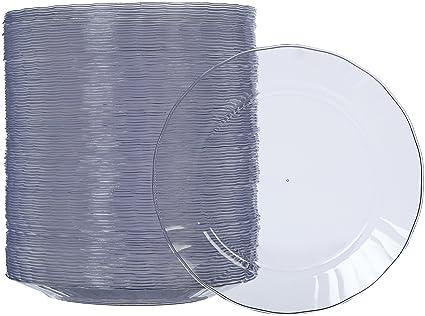 AmazonBasics - Platos de plástico desechables - Pack de 100, 19 cm