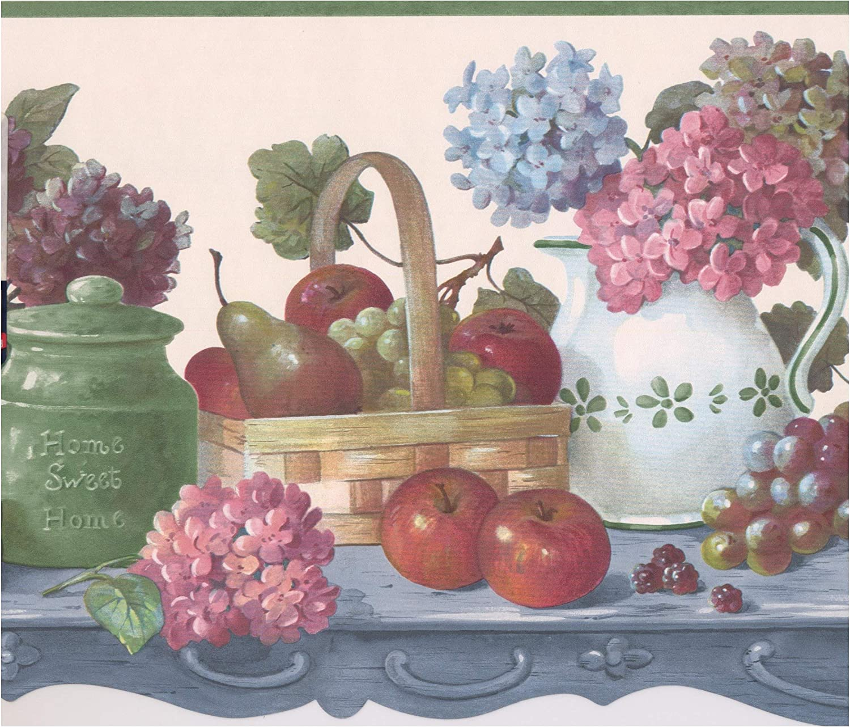 rouleau de 15/x 25,9/cm Fruits et baies en Baskets sur table de cuisine Farmhouse Frise papier peint Motif r/étro
