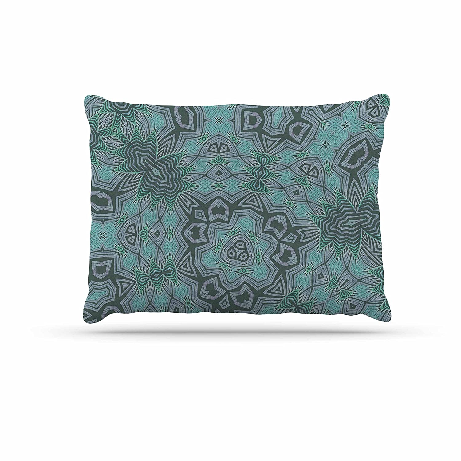KESS InHouse Alison Coxon Kitenge Green Teal Coral Dog Bed, 30  x 40