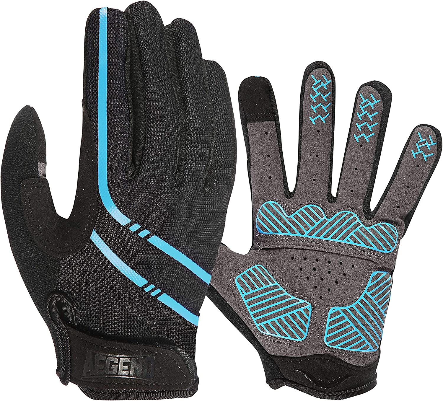 Full Finger Cycling Gloves Bike Bicycle Gel Padded Cycle Touch Screen Gloves MTB