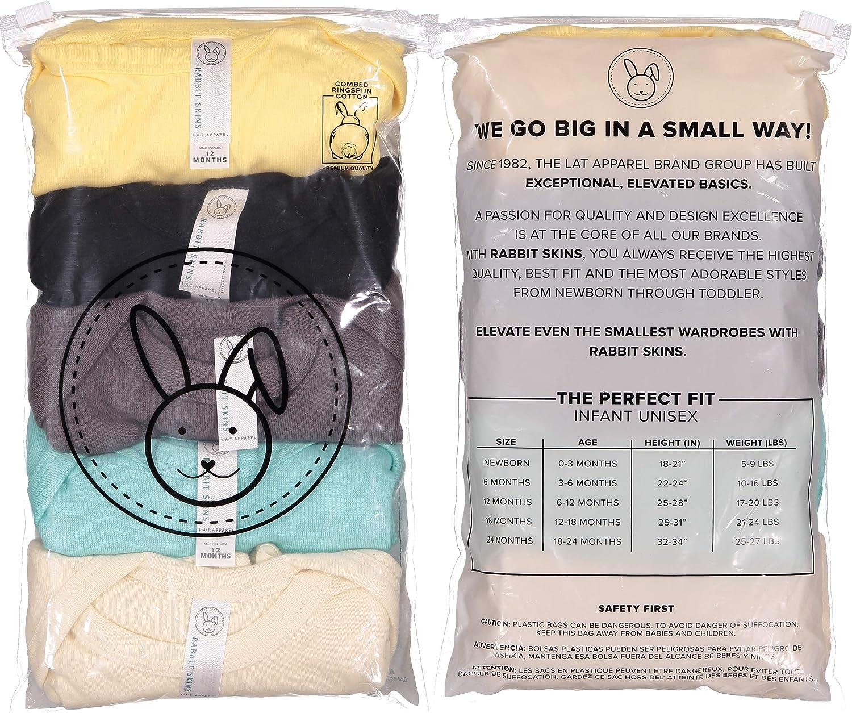 Sleeve Bodysuit RABBIT SKINS Baby 5-Pack Soft Short