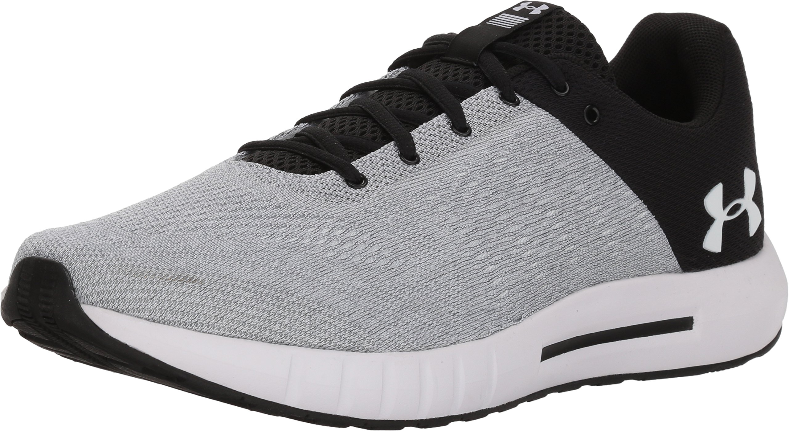 Under Armour 3000011 002 Micro G Pursuit Black White Grey Men/'s Running Shoes