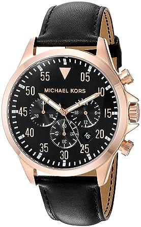 78d9561351d1 Amazon.com  Michael Kors Men s Gage Black Watch MK8535  Watches