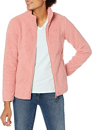 Amazon Essentials Women's Polar Fleece Lined Sherpa Full-Zip Jacket