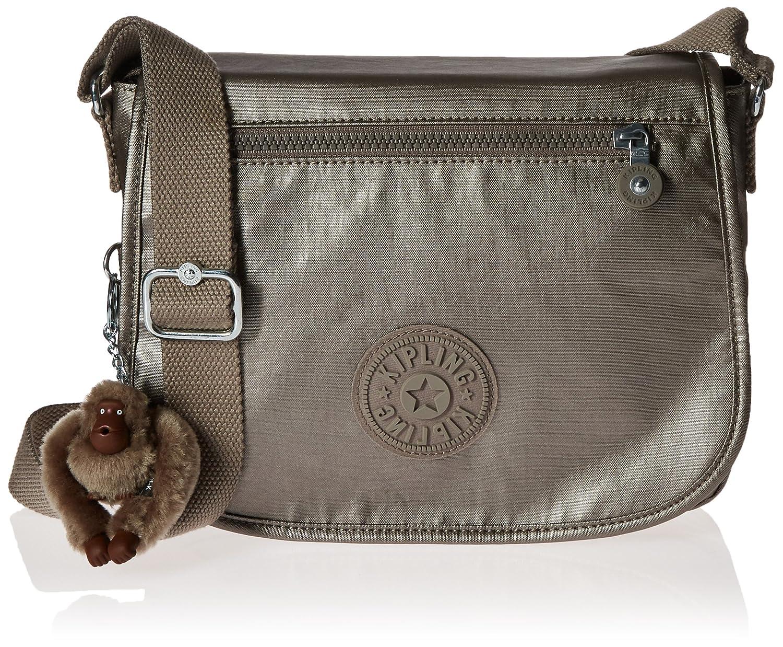 Kipling Attyson Metallic Crossbody Bag, Pewter  Handbags  Amazon.com 40bfc2728f