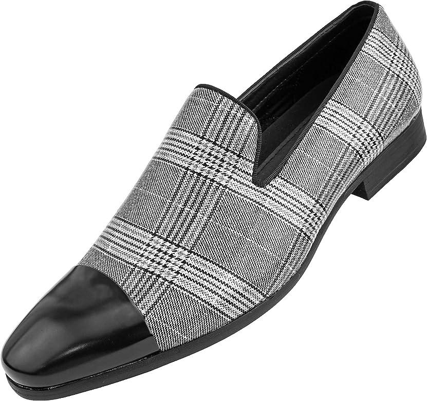 Loafer with Black Metal Toe Dress Shoe