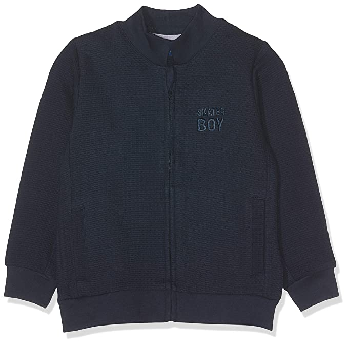 TOM TAILOR Kids Sweatjacket Patterned, Sudadera para Bebés, Azul (Navy Blazer 3105)